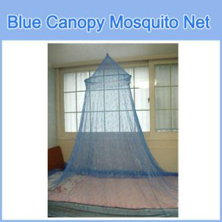 Newly listed Blue Color Canopy Mosquito net Hoop Lace Bed Insect Bug