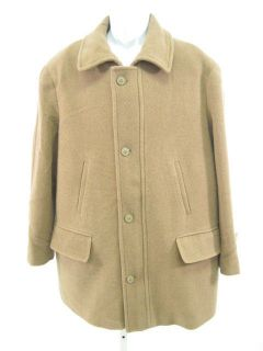 IRVINE PARK Tan Wool Long Coat Jacket Sz L