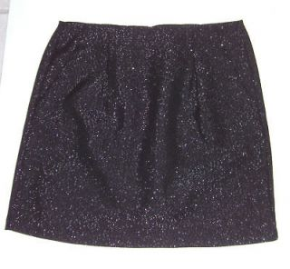 GAP Womens Black Silver Metallic Tweed Mini Skirt Sizes 0 14 NWT