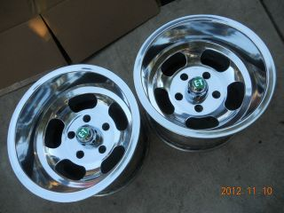INDY STYLE 15x10 SLOT MAG WHEELS FORD GASSER MAGS HOTROD VAN TRUCK