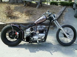triumph unit 650 custom bobber chopper hardtail frame time left