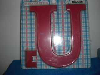 newly listed new red kidkraft wooden letter u time left