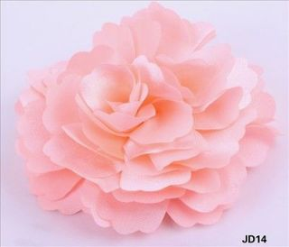 1pc pink Stain Silk Peony Wedding party Corsage Hair Clip Brooch