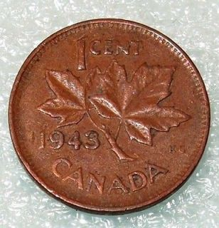 1943 canada canadian penny 1 one cent small cent coin