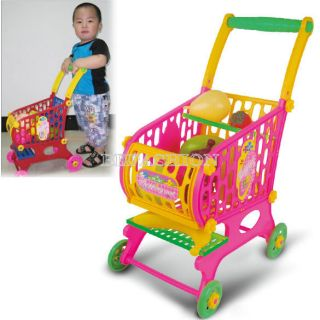 Kid Children Pretend play Toy Plastic Trolley Shopping Cart 10 Kind of