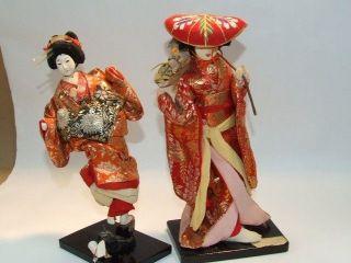 Vintage 9 1/2 inch Japanese Nishi Dolls ~