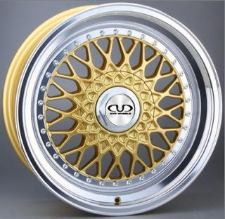 18 MERCEDES C KLASS 1993 2000 DVD TX09 GOLD DEEP DISH ALLOY WHEELS