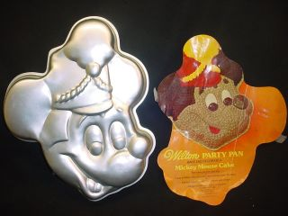 BIG MICKEY MOUSE cake pan WALT DISNEY mold INSERT bake tin jello