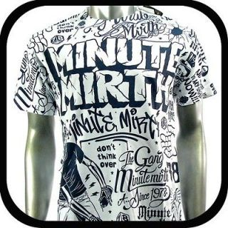 Minute Mirth T Shirt Tattoo bmx Graffiti Rock N106 Sz L Skate Board