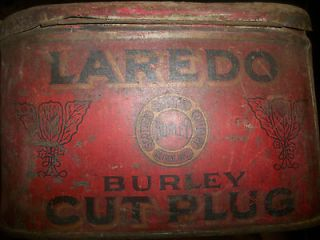 Antique Early 1900s LAREDO BURLEY CUT PLUG Tobacco Tin Scotten