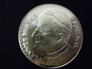 Pope John Paul II Madonna and Child Silver Medal