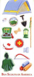 ITT Boy Scout Camping Tent Scrapbooking Stickers 95975Q