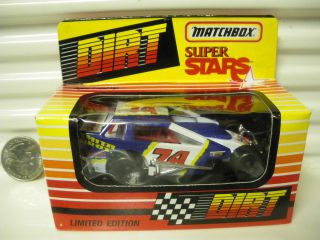 MATCHBOX 1993 RARE SERIES 2 DIRT MODIFIED RACE CAR #74 RICK ELLIOTT