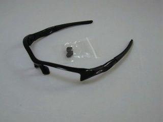 New AUTHENTIC Oakley Flak Jacket Jet Black Frame & Nose Pieces Free