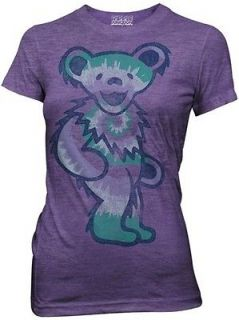 Grateful Dead Tie Dye Bear Rock N Roll Womens Fitted Medium T Shirt