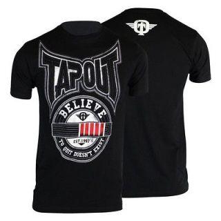 TAPOUT BLACK BELT JIU JITSU MMA SHIRT BLACK SIZES S, M, L, XL, 2XL