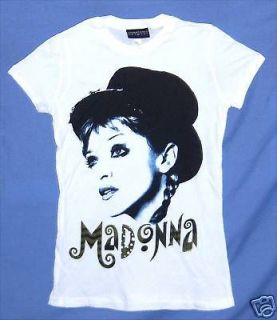 MADONNA MIME YOUNG FACE PIC WHT BABY DOLL GIRLS T SHIRT XL X LARGE NEW