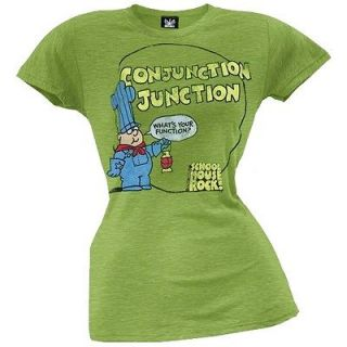 schoolhouse rock conjunction junction juniors t shirt one day shipping