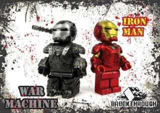 ARMY   custom made IRON MAN and WAR MACHINE Set for Lego (Avengers
