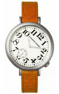 Katharine Hamnett White Dial Leather Strap Ladies Watch KH7096 01