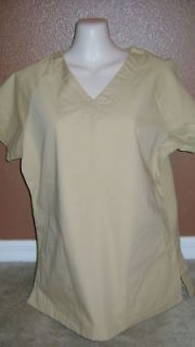 smarty pants nwt khaki katherine heigl scrub top large