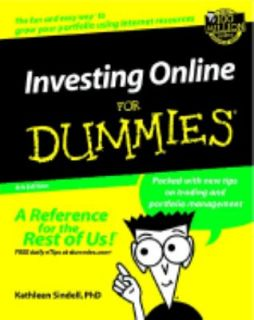 Online for Dummies by Kathleen Sindell 2002, Paperback