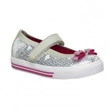 TODDLER GIRLS KEDS HELLO KITTY CHARMMY MARY JANE SILVER SEQUIN SZ 4 12