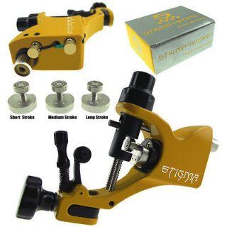 New Yellow Rotary Tattoo Machine Gun Stigma V2 Style 3 Stroke