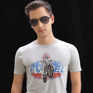 EVEL KNIEVEL VINTAGE T SHIRT NR.1, Sz. S, M, L Biker Bike USA