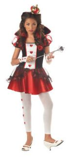 queen of hearts tween teen alice in wonderland costume