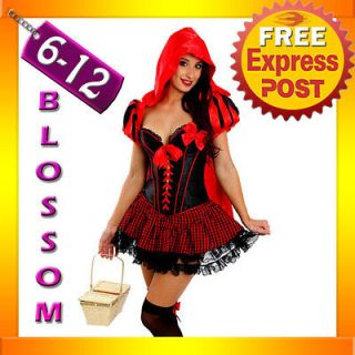 e99 ladies deluxe little red riding hood fancy dress halloween costume