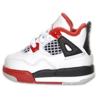 NIKE Baby Air Jordan 4 Retro Fire Red (TD) size 6C USA Olympic Gold