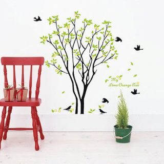 Huge Birds Sing On the Tree Wall Paper Stickers Decor Art Removable 90