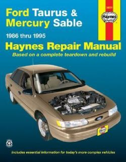 Ford Taurus and Mercury Sable 8695 by John Haynes and Haynes