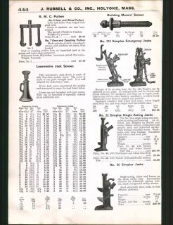 1925 ad Simplex Emergency Jacks Single Acting Locomotive Screw