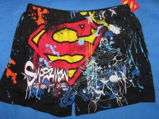 Clark KENT DC cOmiC BoOk mOviE WB MENS SLeeP BOXER sHoRtS New S SMALL