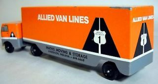 VINTAGE ALLIED VAN LINES MOVING VAN * ADVERTISING PREMIUM TOY TRUCK