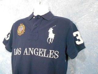 POLO $145 NWT City Mesh Polo Shirt LOS ANGELES MEDIUM M   AUTHENTIC