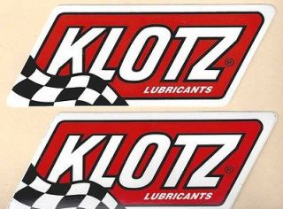 Klotz LUBRICANTS Racing Decals Sticker 4 3/4 Inches Long Size New