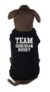 TEAM SIBERIAN HUSKY   dog and puppy t shirt   pet clothing   all sizes
