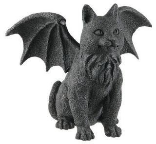 Night Guardian Winged Cat Gargoyle Statue Figurine Gothic Kitty Medium