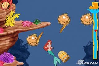 The Little Mermaid Magic in Two Kingdoms Nintendo Game Boy Advance