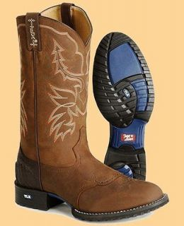Tony Lama Mens XT3000 13 Tan Cheyenne/Chocolate Tucson Work Western