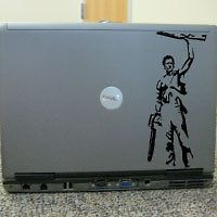 evil dead cult film horror laptop skin decal sticker time