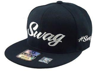 new vintage swag flat bill snapback baseball cap hat black