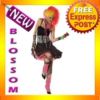 C167 1980s Party Girl Cyndi Lauper Disco Diva Fancy Dress Adult