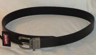 New Boys REVERSIBLE Brown / Black Leather LEVIS Belt Sz Med (26 28