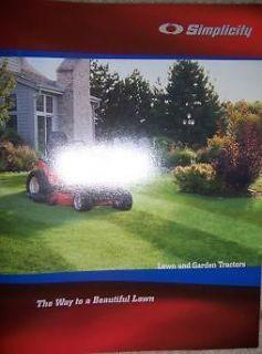 2006 simplicity lawn garden tractor promo catalog e time left