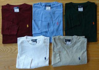 NWT New Polo Ralph Lauren LONG SLEEVE Logo T Shirt Assorted Colors S M