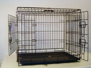 Two Door Dog Crate Cat Cage Kennel Labrador Retriever Boxer Dalmation